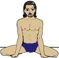 pose de yoga : la posture de la grenouille - mandukasana